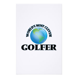 World's Most Clever Golfer Stationery Paper