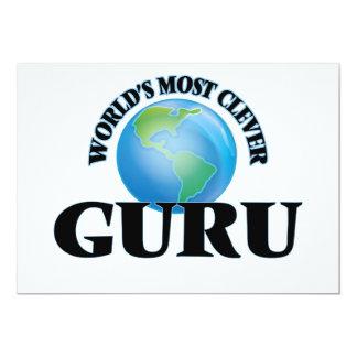 World's Most Clever Guru 13 Cm X 18 Cm Invitation Card
