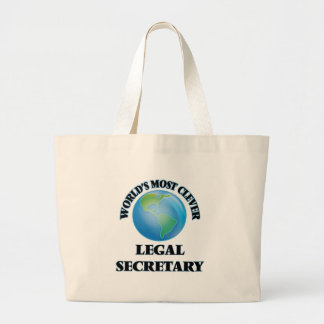 World's Most Clever Legal Secretary Tote Bags