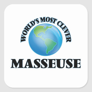 World's Most Clever Masseuse Square Sticker