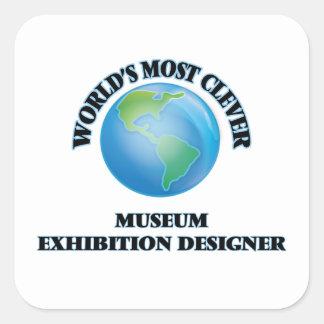 World's Most Clever Museum Exhibition Designer Square Sticker