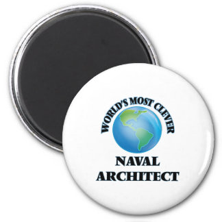 World's Most Clever Naval Architect 6 Cm Round Magnet