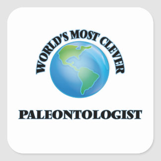 World's Most Clever Paleontologist Square Stickers