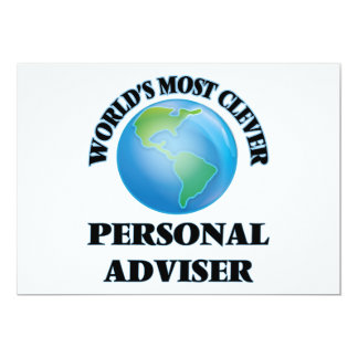 "World's Most Clever Personal Adviser 5"" X 7"" Invitation Card"