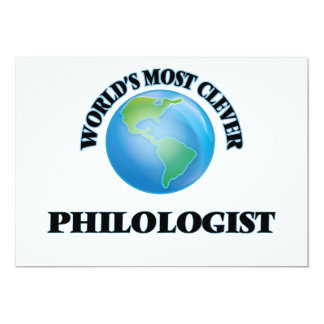 World's Most Clever Philologist Card