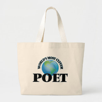World's Most Clever Poet Tote Bags