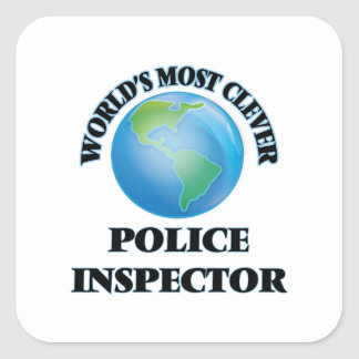 World's Most Clever Police Inspector Square Sticker