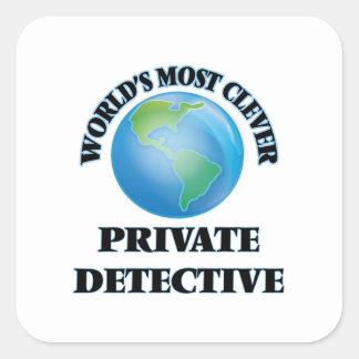 World's Most Clever Private Detective Square Sticker