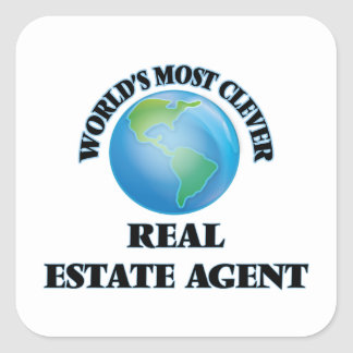 World's Most Clever Real Estate Agent Square Sticker