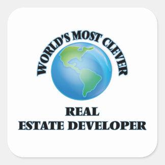 World's Most Clever Real Estate Developer Square Sticker