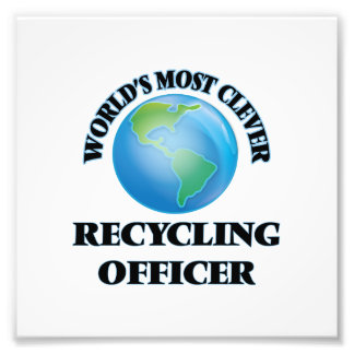 World's Most Clever Recycling Officer Photographic Print