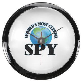 World's Most Clever Spy Aquarium Clock