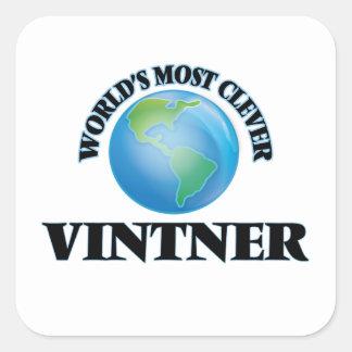 World's Most Clever Vintner Square Sticker