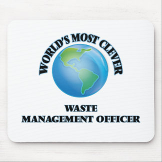 World's Most Clever Waste Management Officer Mouse Pads