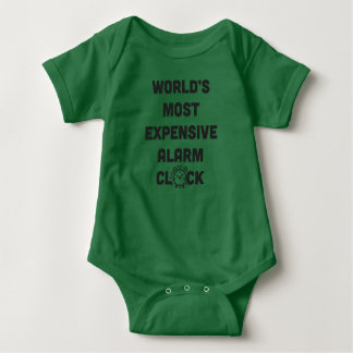 World's Most Expensive Alarm Clock Baby Bodysuit