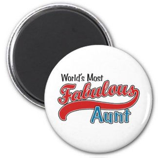 World's Most Fabulous Aunt 6 Cm Round Magnet
