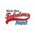 World's Most Fabulous Aunt Postcards
