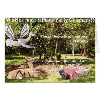 World's most famous party crashers!!! greeting card