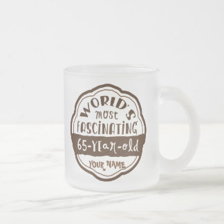World's Most Fascinating 65-Year-Old Brown Peach Frosted Glass Mug