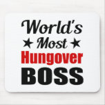 World's Most Hungover Boss Novelty Mouse Pad