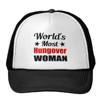 World's Most Hungover Woman Funny Drinking Cap
