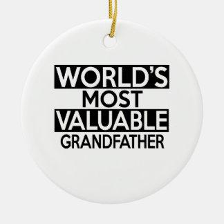 WORLD'S MOST VALUABLE GRANDFATHER ROUND CERAMIC DECORATION