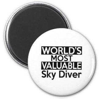 World's Most Valuable Sky Diver 6 Cm Round Magnet