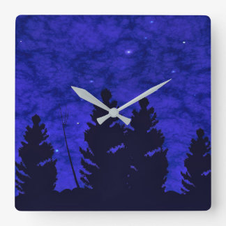 Worlds Much Like Ours Square Wall Clock