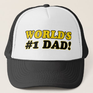 World's number 1  dad trucker hat