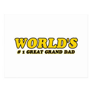 World's number 1 great grandpa postcard