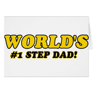 World's number 1 step dad greeting card