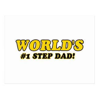 World's number 1 step dad postcard