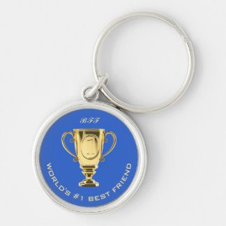 World's number one best friend custom text key ring