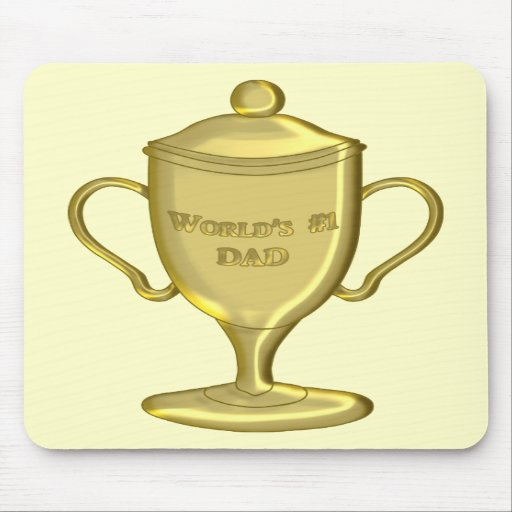 World's Number One Dad Championship Trophy Mousepad