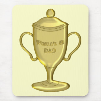 World's Number One Dad Championship Trophy Mouse Pad