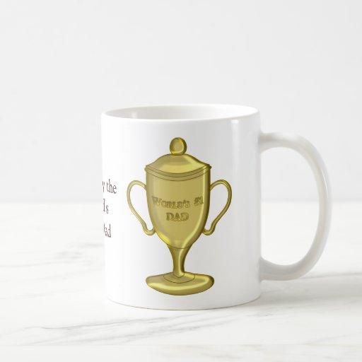 World's Number One Dad Championship Trophy Mugs
