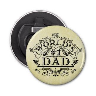 World's Number One Dad Vintage Flourish Bottle Opener