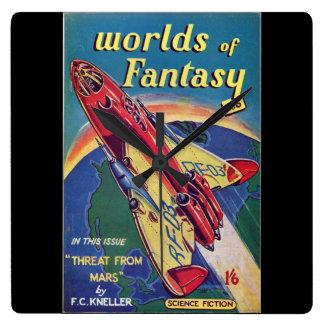 Worlds of Fantasy No. 6 _August 1952_ Bri Pulp Art Wall Clocks