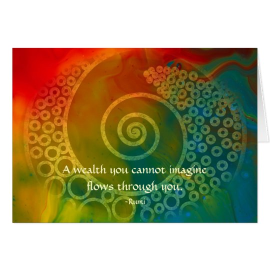 Worlds of Wonder Rumi and Poetic Art Card