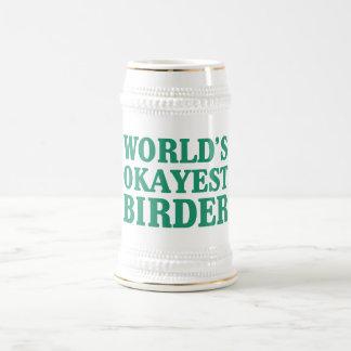 World's Okayest Birder Beer Steins