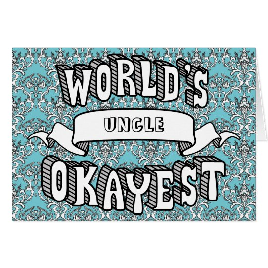 World's Okayest Blank Funny Text Floral Card