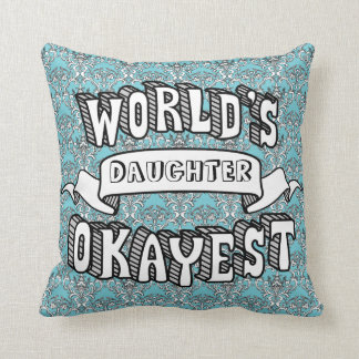 World's Okayest Blank Funny Text Floral Pillow