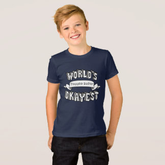 World's Okayest Blank Funny Text Kids Shirt