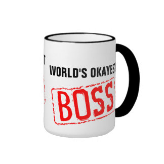 World's Okayest Boss Coffee Mug