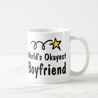 World's Okayest Boyfriend Coffee Mug Gift