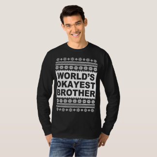 Worlds Okayest Brother Ugly Christmas Sweater
