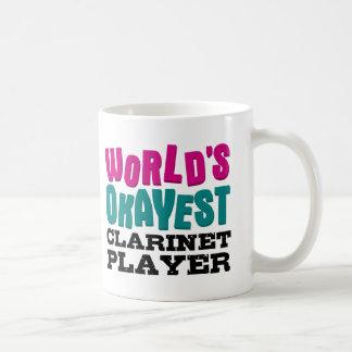 World's Okayest Clarinet Player Basic White Mug