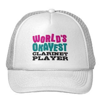 World's Okayest Clarinet Player Cap