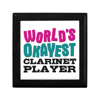 World's Okayest Clarinet Player Small Square Gift Box