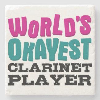 World's Okayest Clarinet Player Stone Coaster